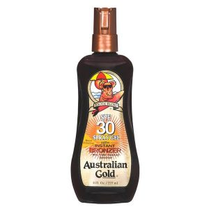 Bronzeador Australian Gold FPS 30 Gel Spray Instant Bronze 237ml