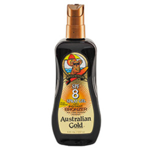 Bronzeador Australian Gold FPS 8 Gel Spray Instant Bronze 237ml